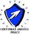 Certyfikat jakości pracy